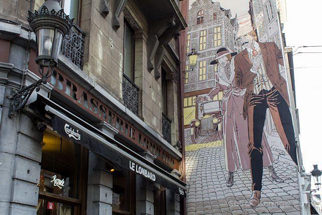 Belgica Bruselas Ruta Comic Mural Victor Sackville
