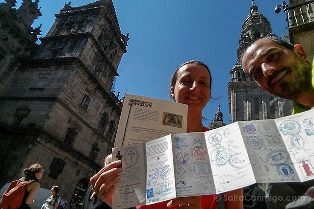 Camino Santiago Credencial Compostela
