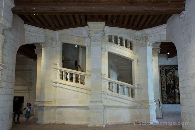 Francia Valle Loira Castillo Chambord Escalera