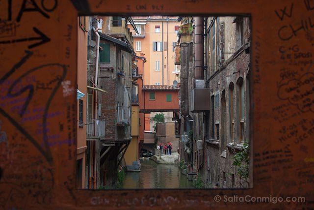 Italia Bologna Bolonia Ventana Canales