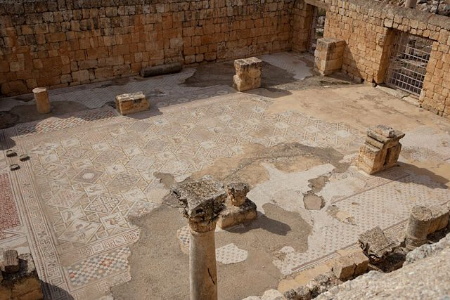 Jordania Gerasa Jerash Iglesia San Jorge Mosaicos