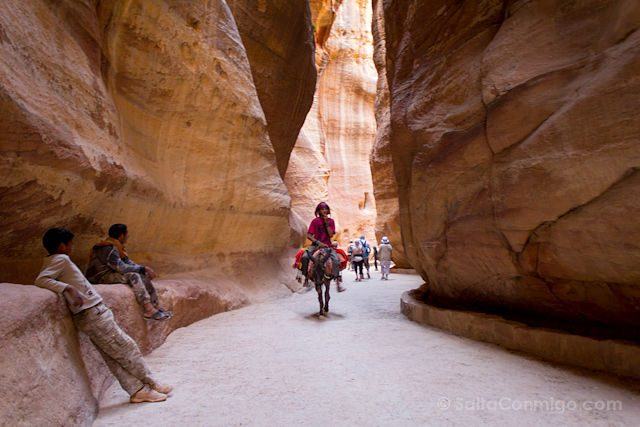Jordania Petra Beduinos Siq