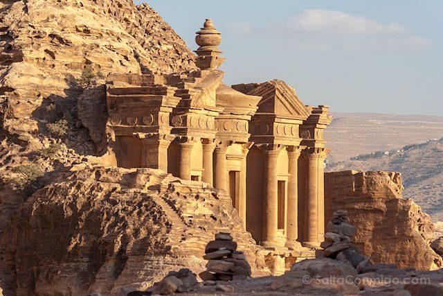 Jordania Petra Monasterio Al-Deir Roca