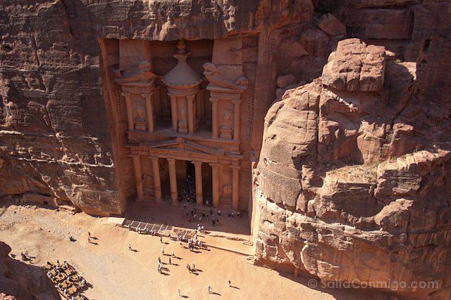 Jordania Petra Tesoro Al-Jazneh Desde Arriba