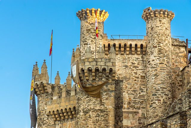 Postales Camino de Santiago Ponferrada Castillo