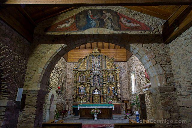 Postales Camino de Santiago Interior Iglesia