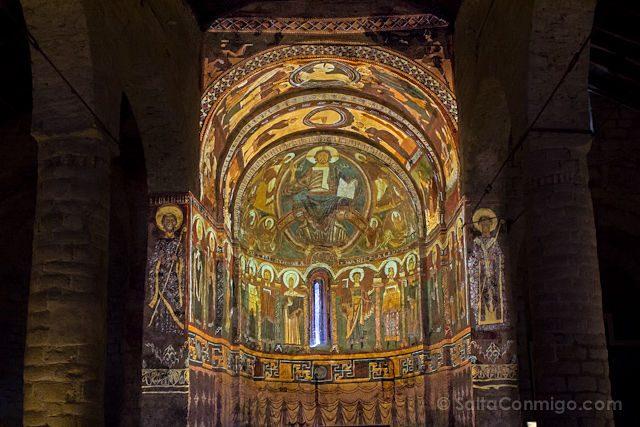Vall De Boi Postales Taull Iglesia Sant Climent Interior