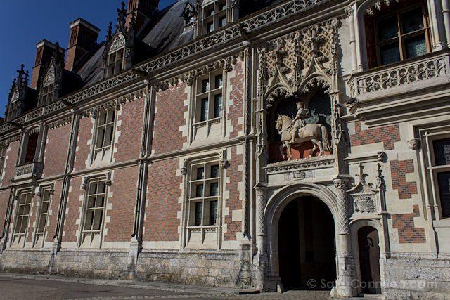 Francia Valle Loira Castillo Real Blois Entrada Estatua Luis XII