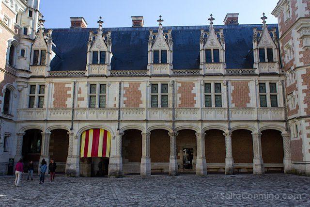 Francia Valle Loira Castillo Real Blois Gotico Flamigero Luis XII