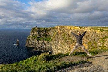 Irlanda Acantilados Moher Salto