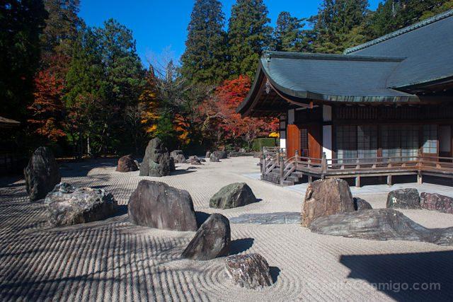 Japon Koya-San Jardin Piedras Zen