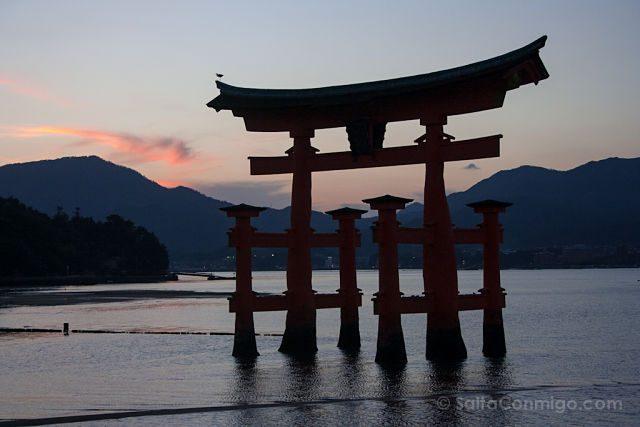 Japon Miyajima Torii Flotante