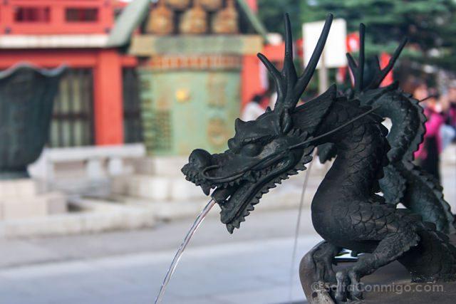Japon Tokio Fuente Templo