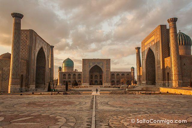 Uzbekistan Samarkanda Plaza Registan