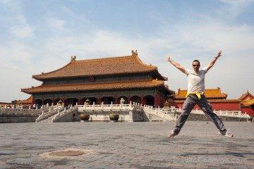 China Pekin Ciudad Prohibida Salto