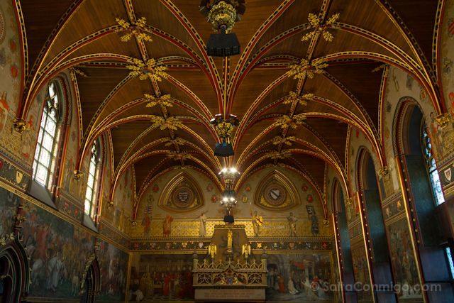 Flandes Brujas Burg Ayuntamiento Stadhuis Sala Gotica