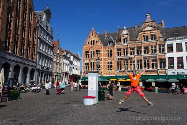 Flandes Brujas Markt Salto