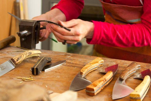 Francia Pirineos Arles-sur-Tech artesania cuchilleros