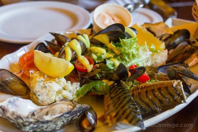 Irlanda Connemara Marisco Pescado Comida Tipica