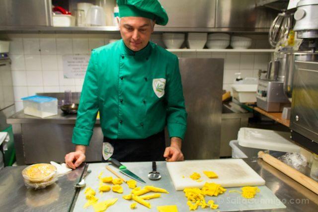 Italia Modena Curso Cocina Stallo del Pomodoro Massimiliano Telloli Pasta Fresca Cocinero