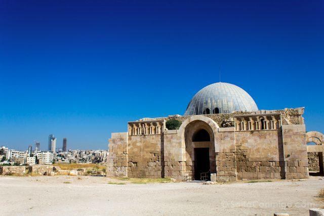 Jordania Amman Ciudadela Palacio Omeya Sala Audiencias