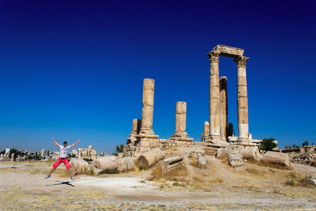 Jordania Amman Ciudadela Templo Hercules Salto