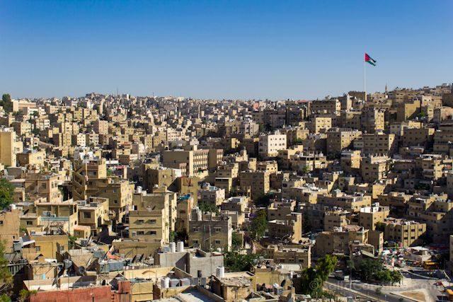 Jordania Amman Colina Asta Raghadan Bandera