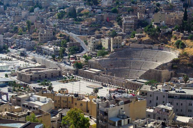 Jordania Amman Vista Teatro Romano Ciudadela