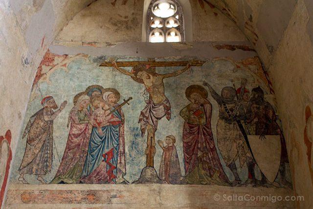 Lleida Seu Vella Catedral Vieja Interior Frescos Crucifixion