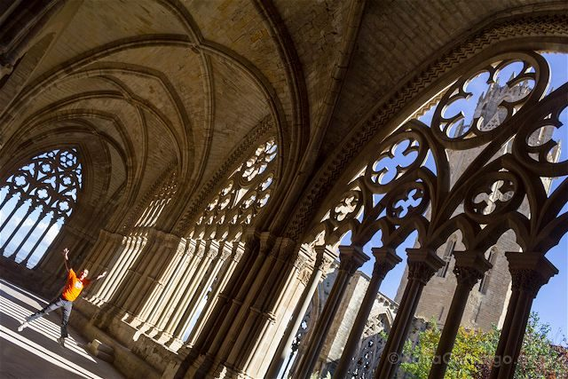 Lleida Seu Vella Catedral Vieja Claustro Salto