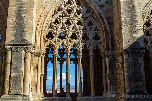 Lleida Seu Vella Catedral Vieja Claustro Vista Ciudad