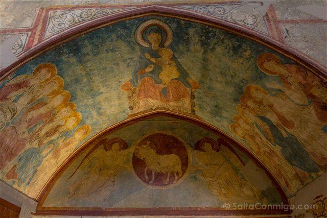 Lleida Seu Vella Catedral Vieja Interior Frescos Virgen