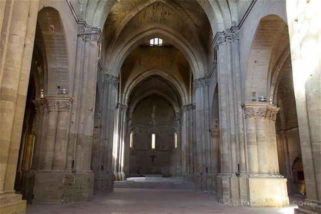Lleida Seu Vella Catedral Vieja Interior Nave Central
