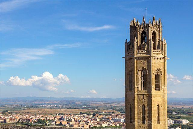 Lleida Seu Vella Catedral Vieja Vista Castillo Rey Campanario