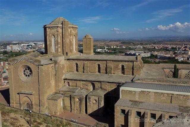 Lleida Seu Vella Catedral Vieja Vista Castillo Rey
