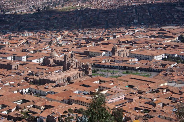 Peru Cuzco Plaza Armas Mirador