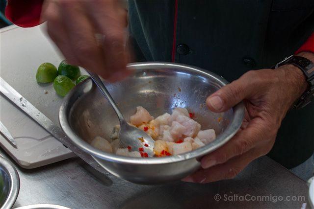 Peru Preparando Ceviche Mezcla Lima