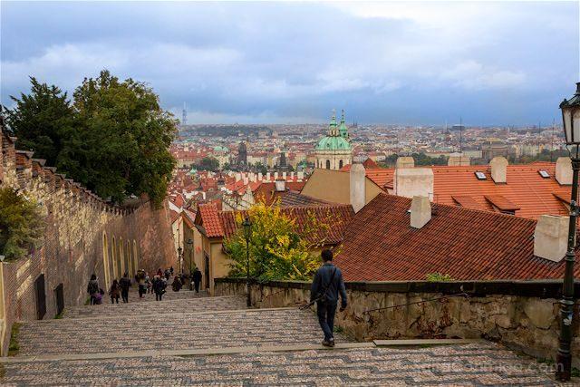Republica Checa Praga Bajando Puente Carlos