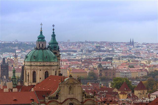 Republica Checa Praga Vista Entrada Castillo