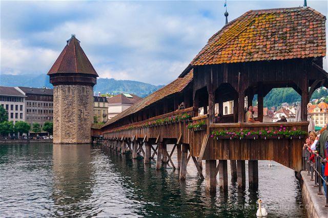 Suiza Lucerna Kapellbrucke Puente Capilla