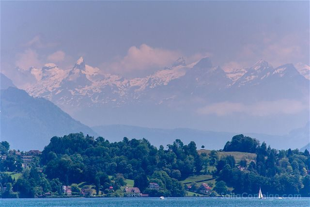 Suiza Lucerna Lago Montanas