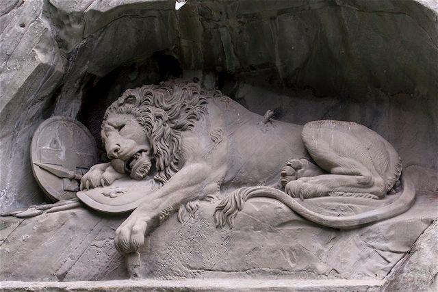 Suiza Lucerna Monumento Leon Moribundo