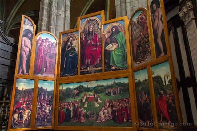 Belgica Flandes Gante Catedral San Bavon Cordero Mistico