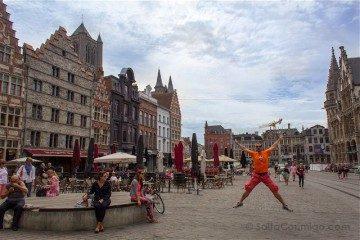 Belgica Flandes Gante Salto