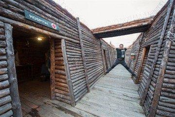 Castilla Leon Burgos Trinchera Prinera Guerra Mundial Belorado