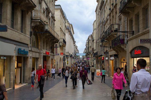 Francia Aquitania Burdeos Rue Sainte Catherine