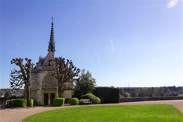 Francia Valle del Loira Castillo de Amboise Capilla San Huberto