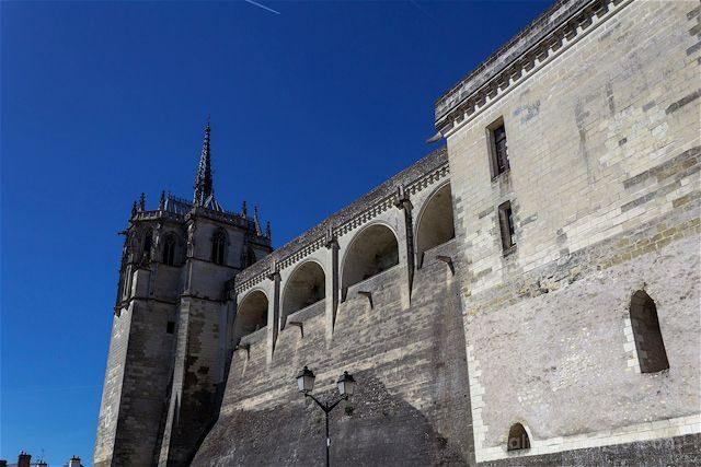 Francia Valle del Loira Castillo de Amboise Muralla