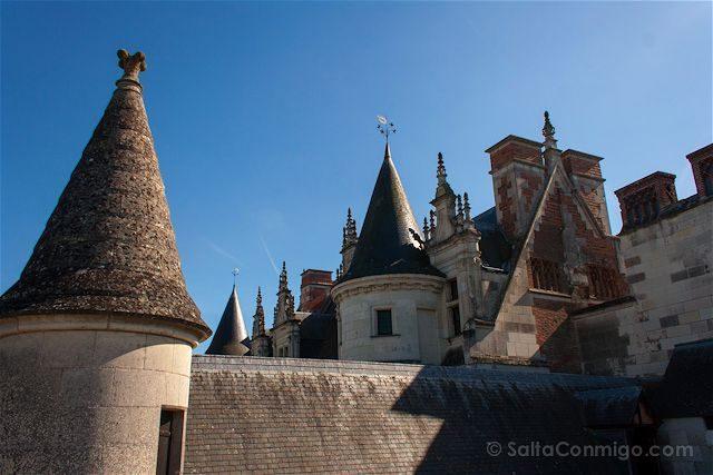 Francia Valle del Loira Castillo de Amboise Tejado