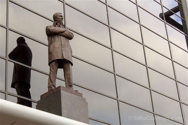 Inglaterra Manchester United Old Trafford Estatua Sir Alex Ferguson